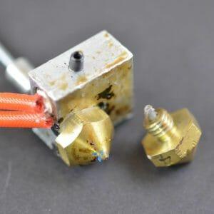 jamed nozzles - 3d printing errors