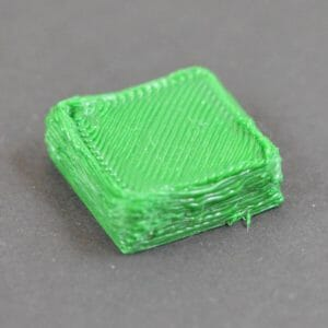 over extruded test cube - 3d printing errors