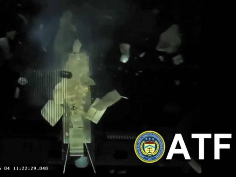 Liberator pistol exploding