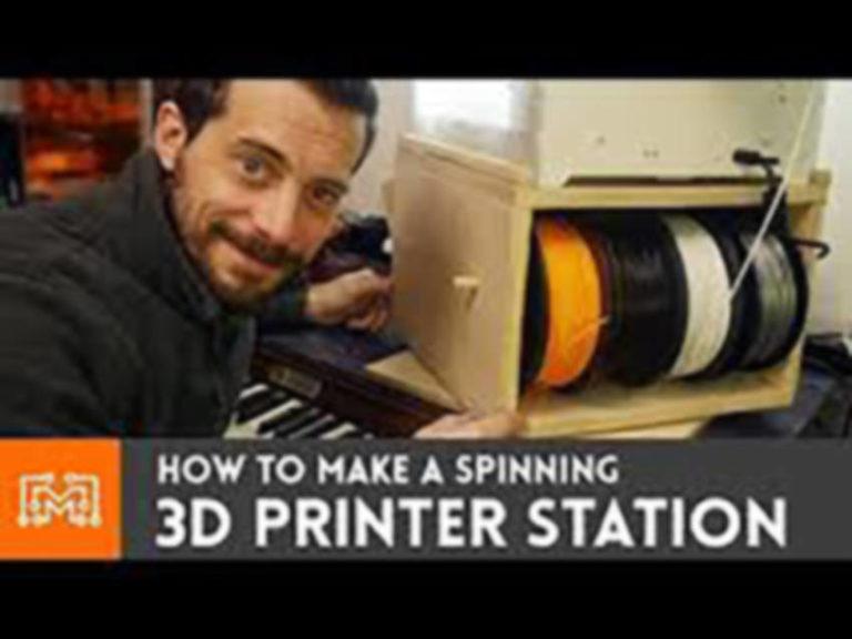 Spinning 3D Printer Workstation