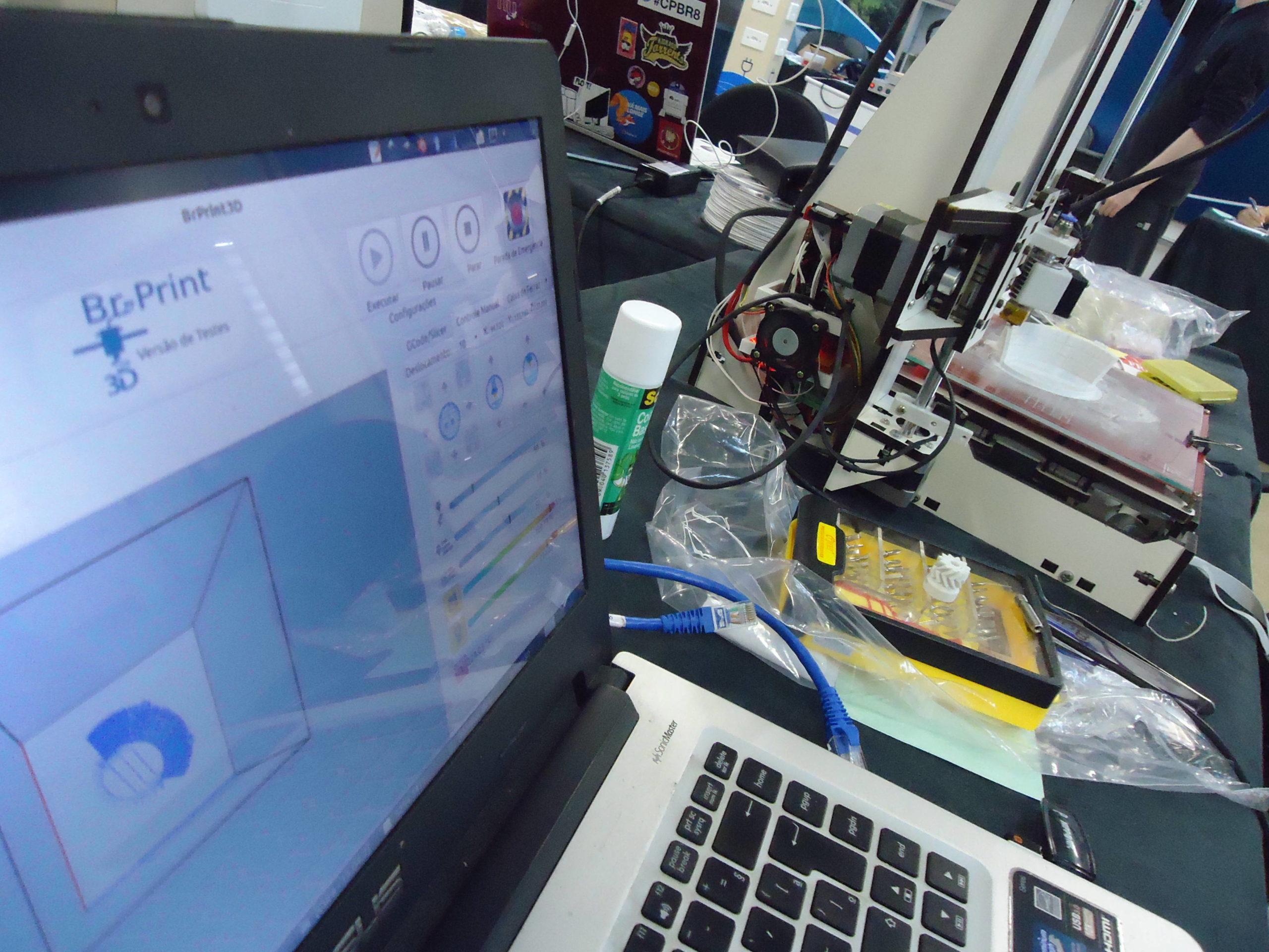 BrPrint3D with a 3d printer