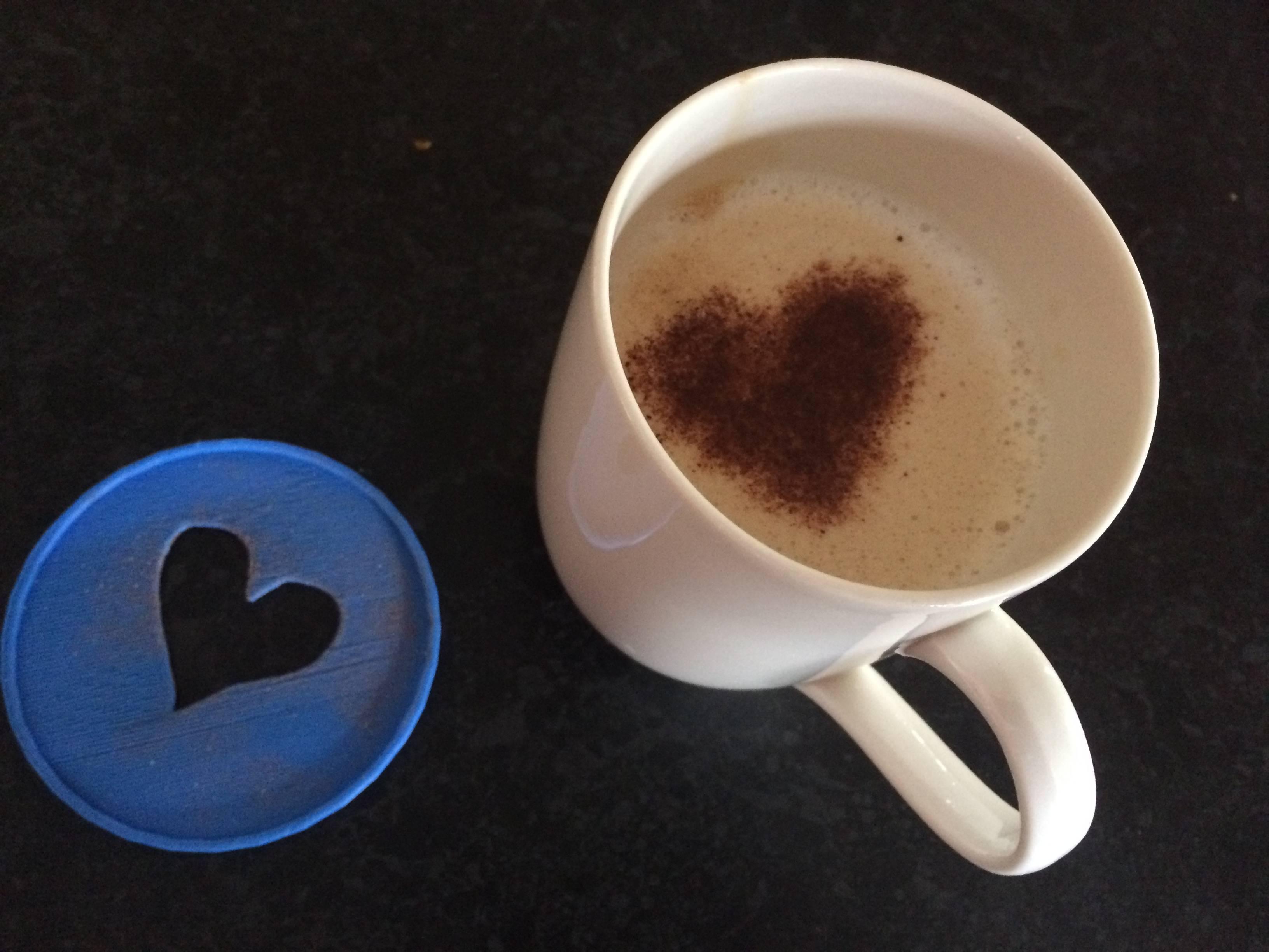 Coffee Art Stencil-Heart
