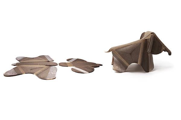 Self-folding elephant