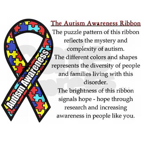 Autism puzzle ribbon.