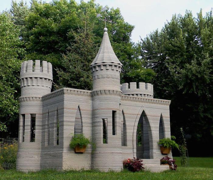 A 3D printed castle