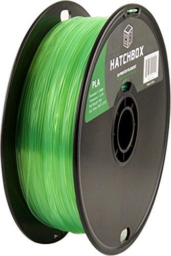 HATCHBOX-3D-PLA-1KG175-TGRN-PLA-3D-Printer-Filament-Dimensional-Accuracy-005-mm-1-kg-Spool-175-mm-Transparent-Green-0