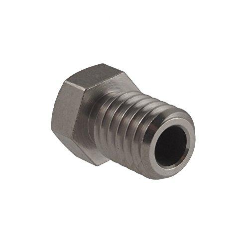 Micro-Swiss-HW-NOZ-MODMK8-08-286-Plated-Brass-Wear-Resistant-Nozzles-285-mm-RepRap-M6-E3DHexOlsson-08-mm-Bright-Nickel-0-0