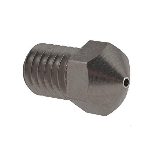 Micro-Swiss-HW-NOZ-MODMK8-08-286-Plated-Brass-Wear-Resistant-Nozzles-285-mm-RepRap-M6-E3DHexOlsson-08-mm-Bright-Nickel-0