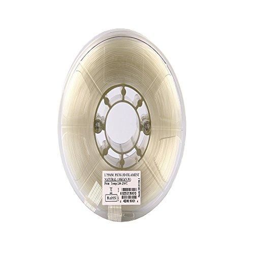eSUN-PETG-filament-3mm-Natural-1kg22lb-Spool-for-Makerbot-Reprap-UP-Afinia-Flash-Forge-and-all-FDM-3D-Printers-Natural-Semi-transparent-0-1