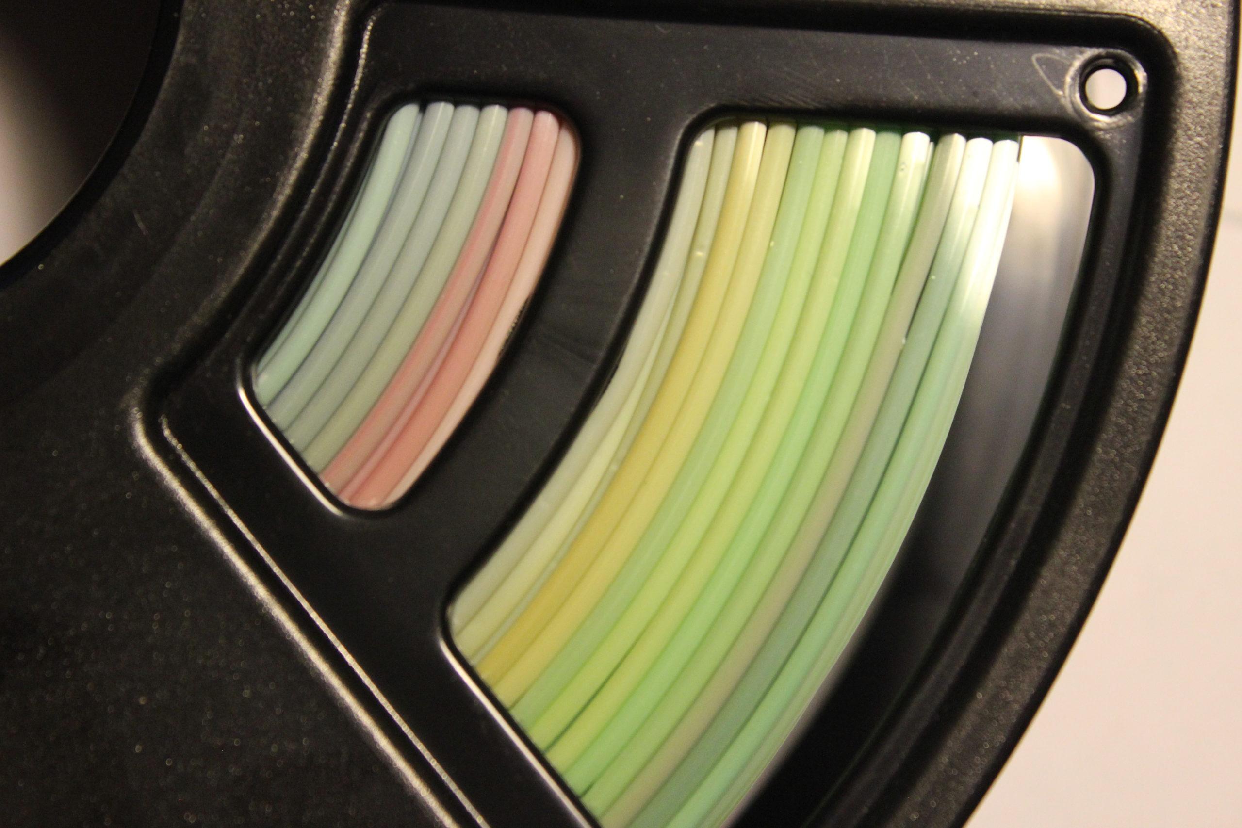 multicolored gradient filament