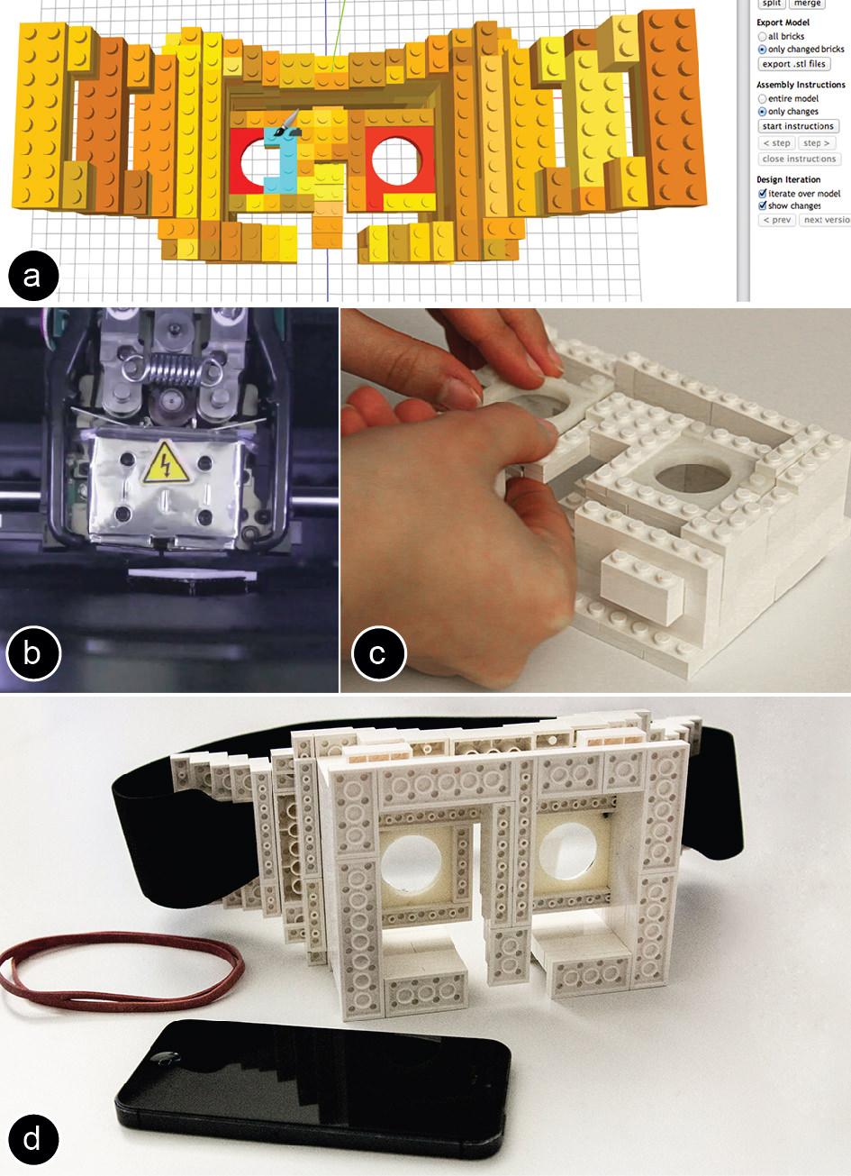 faBrickation-head-mounted-display - DIY 3d printers