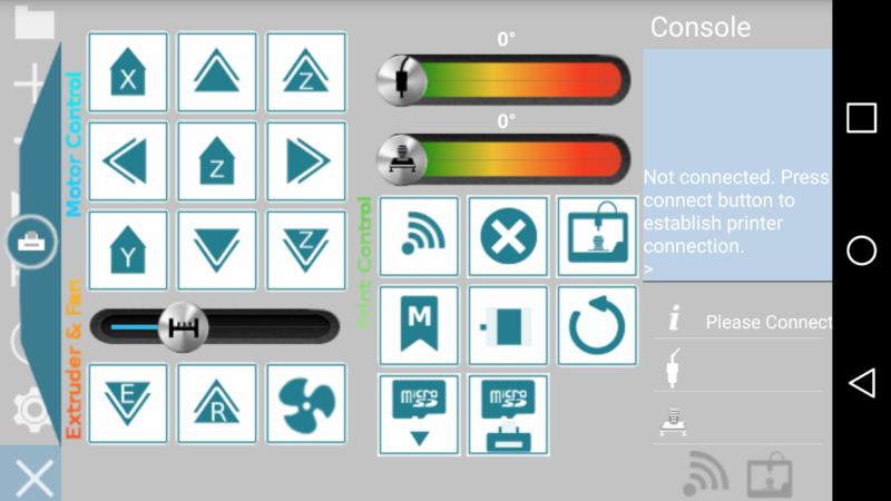 Control screen of GCODE Simulator