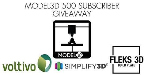 Model3D Giveaway 3D Printing