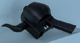 Liberator Teapot, a mix of a teapot and the Liberator pistol. From Additivist Cookbook
