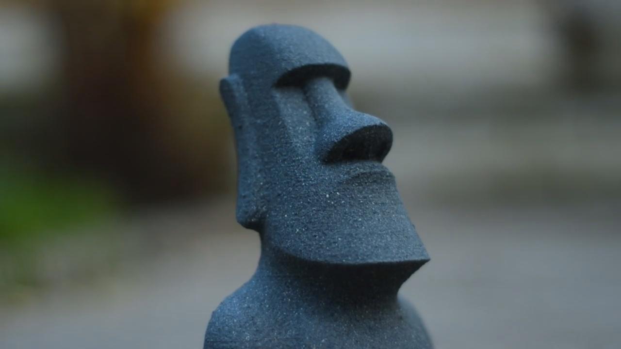 Stone Statue Closeup 3D Printed