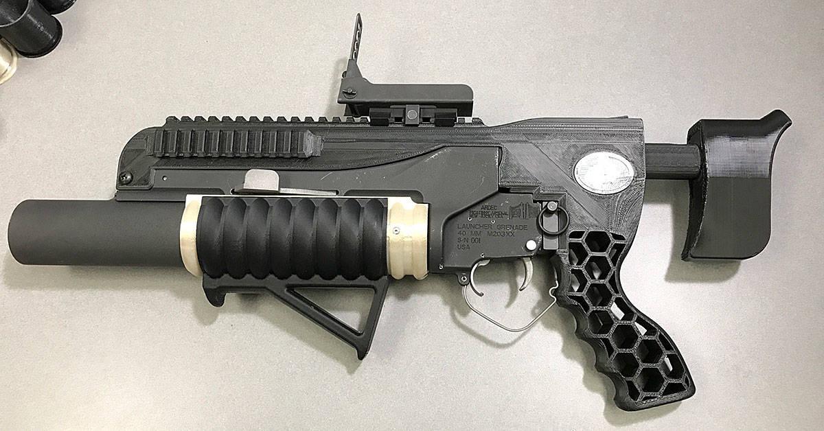3D printed gernade launcher