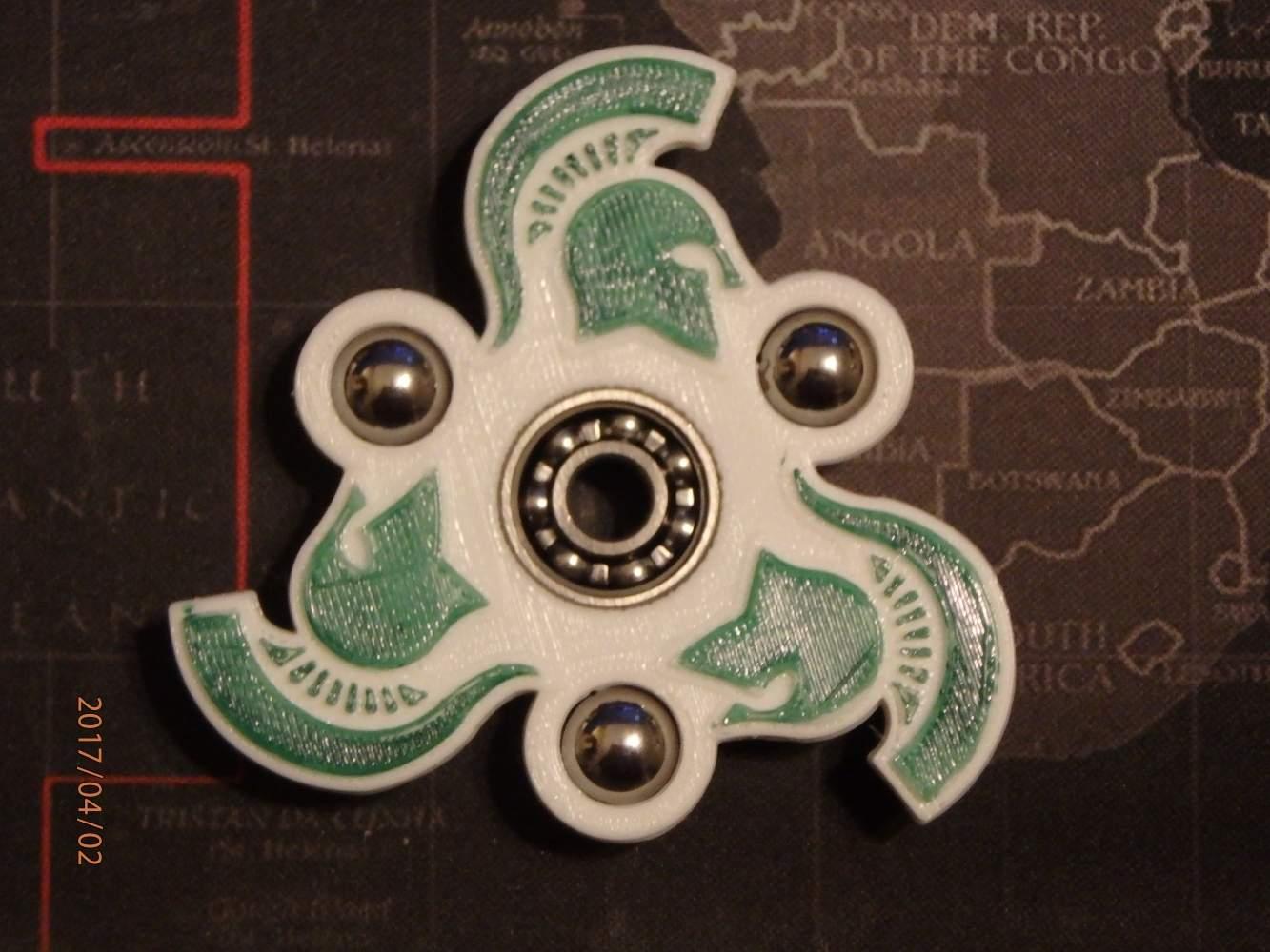 Michigan State Spartan Fidget Spinner