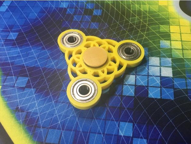 Tri-Circle Fidget Spinner