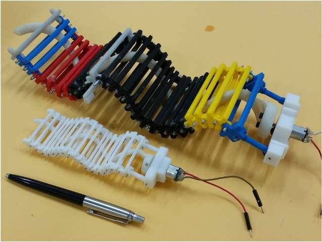 mini 3d printed wave-like robot