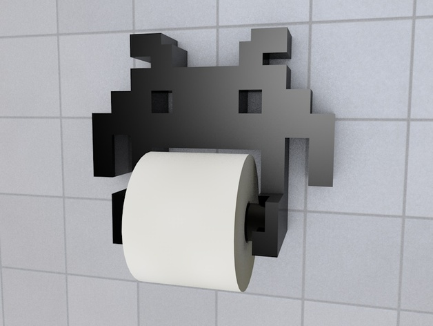 Space Invader TP holder 3d prints