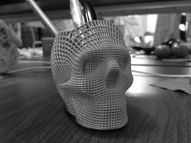 Wireframe Skull Thingiverse
