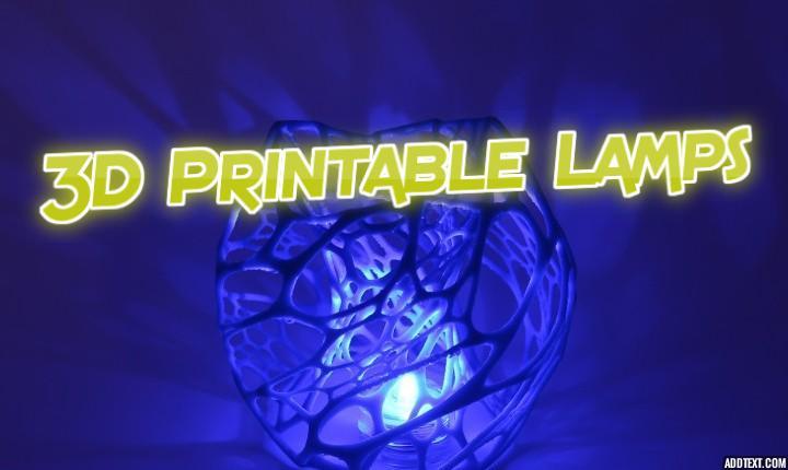 3D Printable Lamps