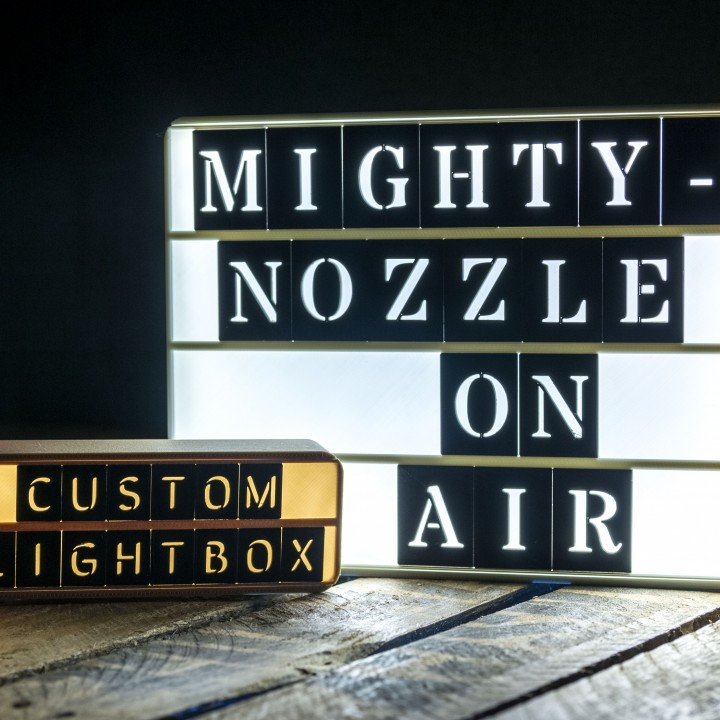 Custom LightBox 3D Printable Lamps