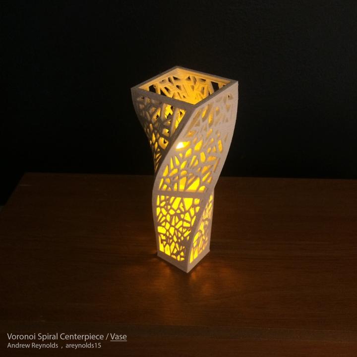 Voronoi Spiral Lamps