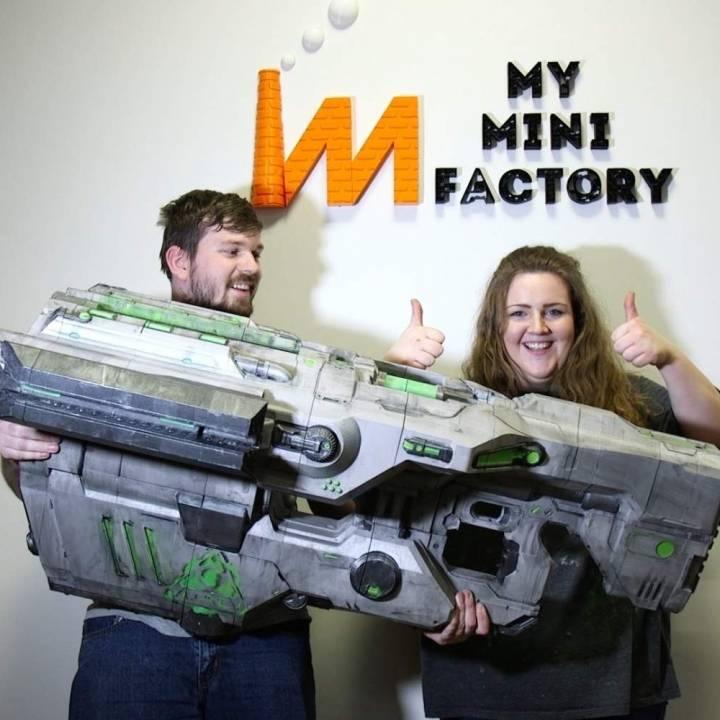 Doom BFG Gun MyMiniFactory