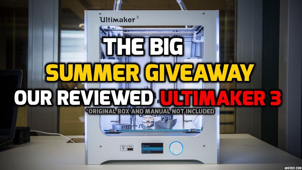 A reviewed Ultimaker 3