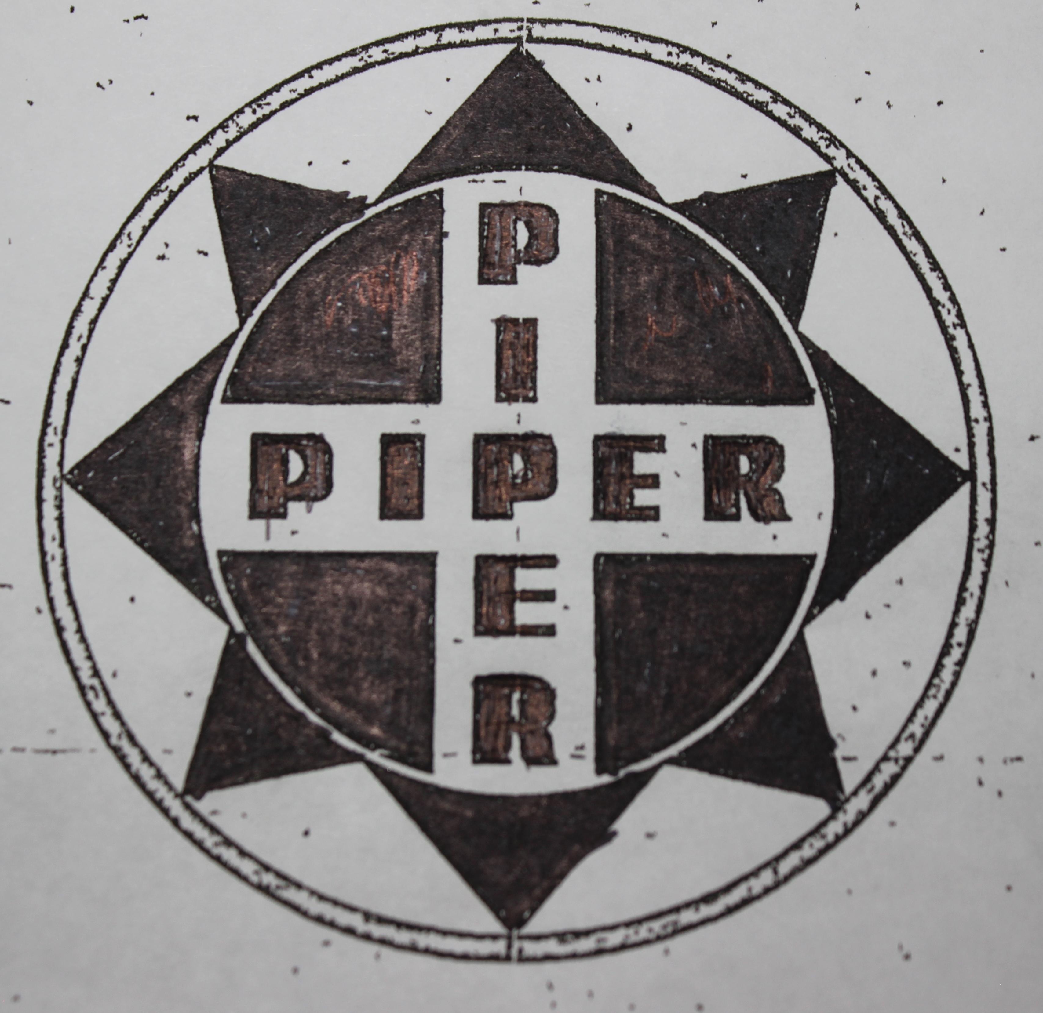 Hand edited Piper logo