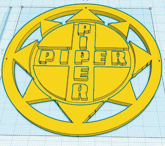 Logo prepared for 3D printing