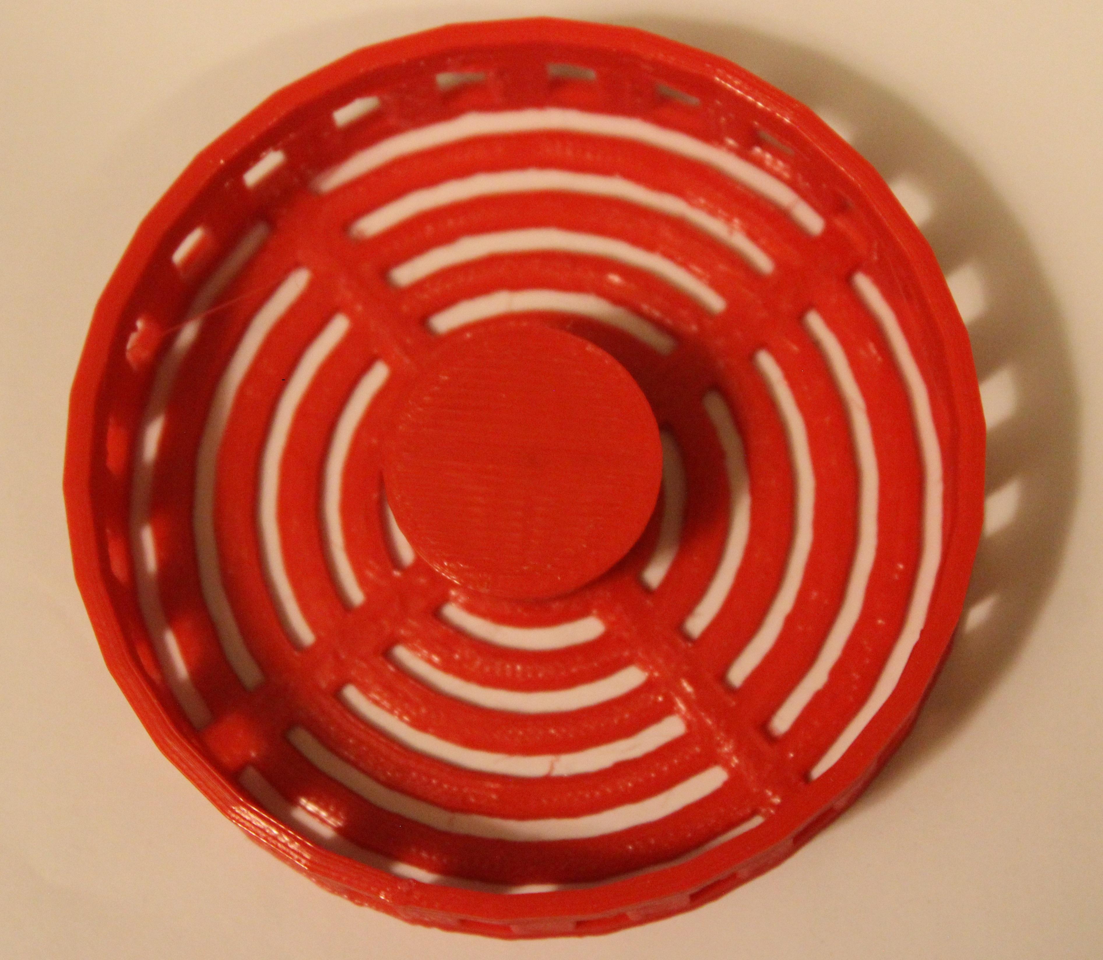 red sink strainer