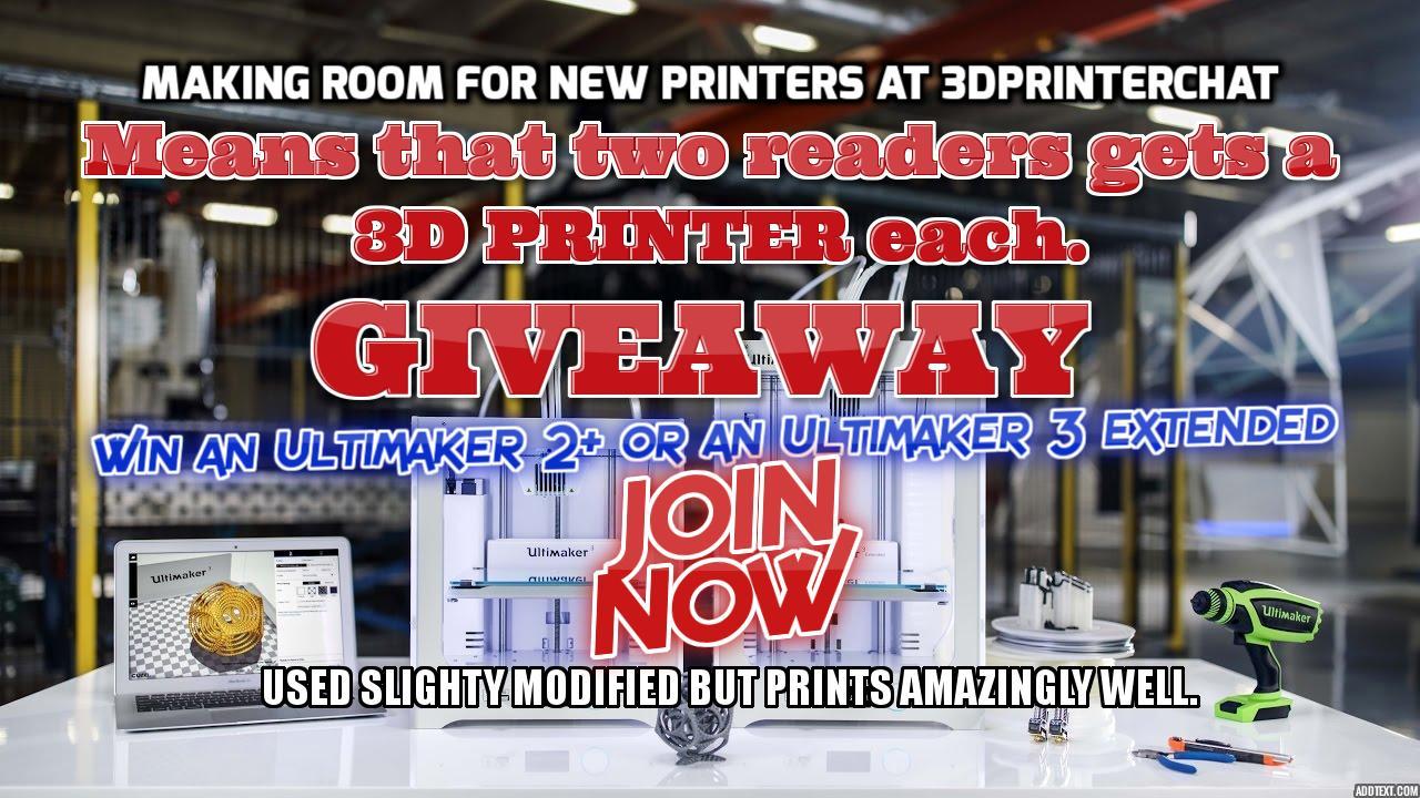 A Free 3dprinter Giveaway
