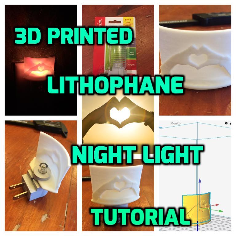 Lithophane Night Light: Make Your Own Night Light!