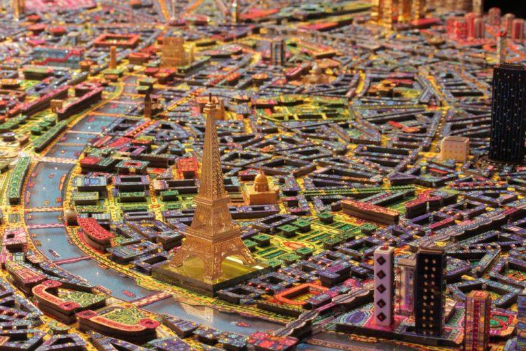 Taking a look at 'Paris 3D by night' Art Work by Johann Perathoner