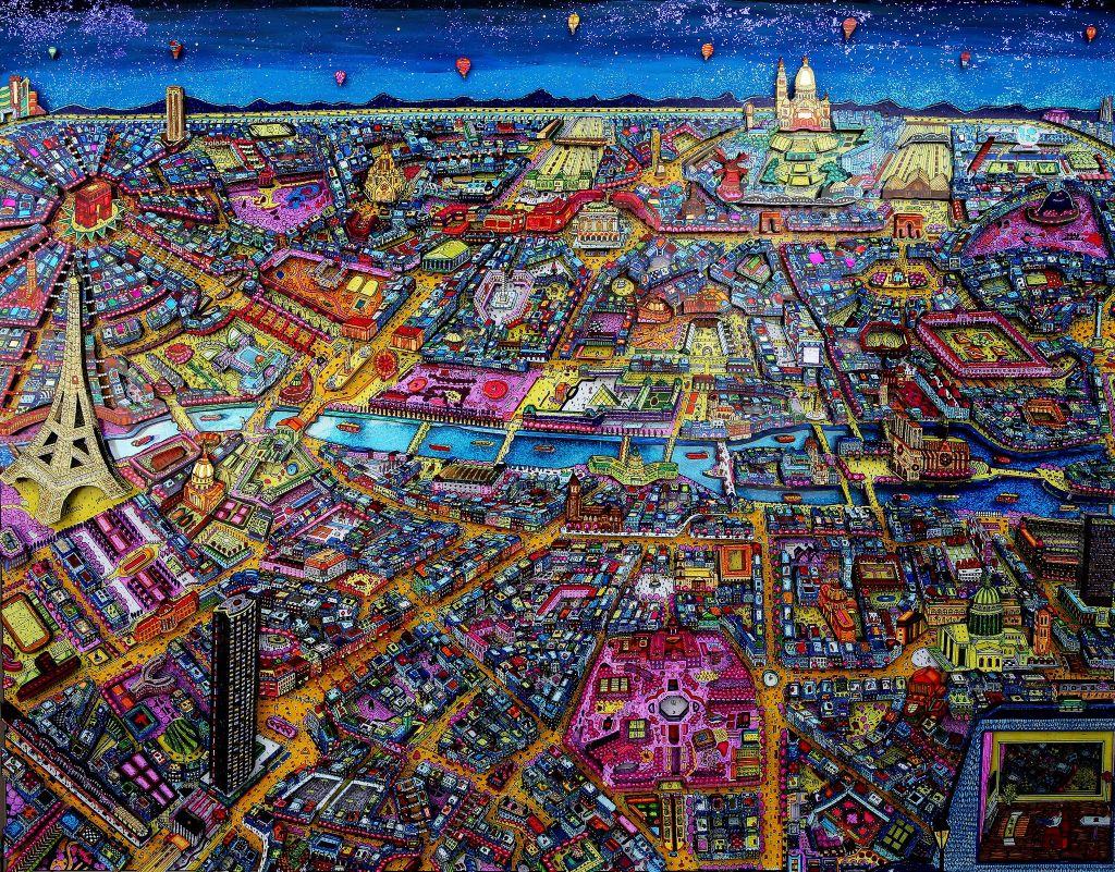 Paris 3D by night