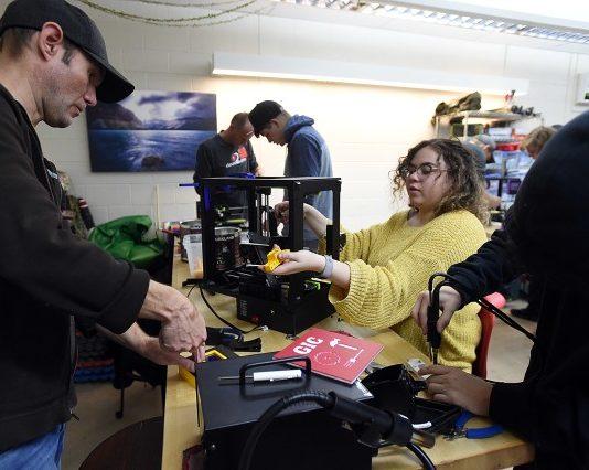 Loveland high school students customizing 3D printers for elementary schools