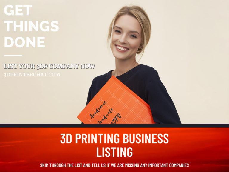 3D Printer manufacturers list 2020