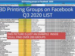 3D Printing Groups on Facebook – Q3 2020 LIST